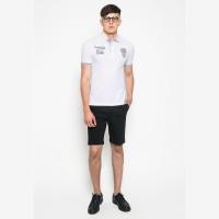 Johnwin - Slim Fit - Polo Shirt - White - Logo