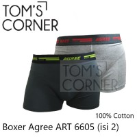 [isi 2] Boxer Agree   Celana boxer pria   celana dalam pria boxer 6605