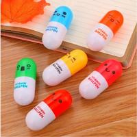 Pulpen pen bolpen mini bentuk kapsul lucu warna warni import - KSY039