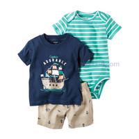 Original Carters 3 in 1 Casual Set - Captain Adorable/ baju anak murah