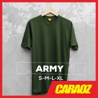 Baju Kaos Polos HIJAU ARMY Pria Wanita Cewek Cowok Oblong Bandung