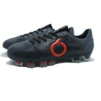 Sepatu Bola Ortuseight Catalyst Oracle FG Black Dark Grey Red
