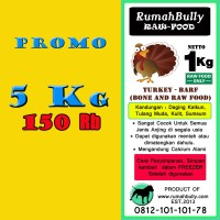 PROMO TURKEY BARF - 5 KG - 150RB / DOG FOOD/CAT FOOD/REPTIL FOOD