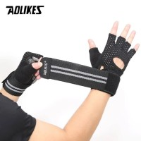 AOLIKES Sarung Tangan Gym + Wrist Wrap