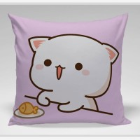 Bantal Sofa / Cushion - Cat Eat Happy