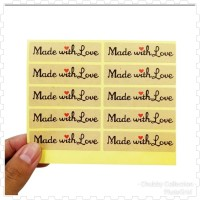 Sticker Made With Love-Label Souvenir-Label Kue