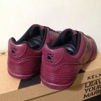 Sepatu Futsal Kelme Power Grip Maroon Black