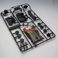 1 Set Gear Box AR Chassis / Roller 13mm / Difuser / Under Panel Tamiya