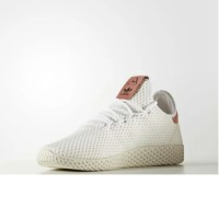 Sepatu Adidas Tennis PW Pharrell Williams HU White Raw Pink Orginal