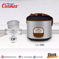 Cosmos Magic Com Rice Cooker Stainless Pot CRJ 9301 3in1 2Liter - New