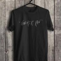 Kaos baju GUNS N ROSES NOVEMBER RAIN kata-kata musik rock jadul hitam