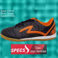 SALE Sepatu Futsal SPECS HORUS Black Orange