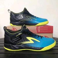 PREMIUM Sepatu futsal specs metasala musketeer black coctail blue 400