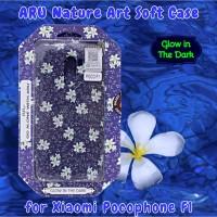 XIAOMI Pocophone F1 Back Soft Case ARU Original Motif Bunga
