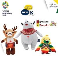 ORIGINAL 3-in-1 Boneka Maskot Asian Games 2018 10 inch Print Series