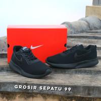 Sepatu Kets Casual Sekolah Nike Full Hitam Anak Pria cowo Laki Murah