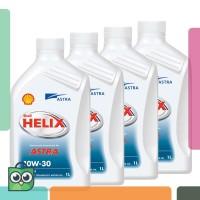 [4x1 Liter] Shell Helix Astra 10W-30 - Oli Mesin Mobil