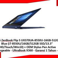 ASUS ZenBook Flip S UX370UA-8550U-16GB-512GB Free STYLUS PEN-36358-EK