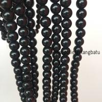 renceng batu alam manik obsidian black onyx kilap 8mm gelang kalung