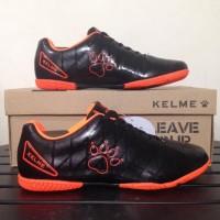 New Sepatu Futsal Anak Kelme Star 9 Junior Black Orange 1115244