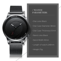 jam tangan pria Biden fashion analog bisnis pita jala