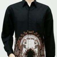 Kemeja Baju Seragam Pria Batik Lengan Panjang 2439 BIG SIZE