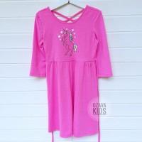 JUSTICE LOOPBACK DRESS Original Baju Unicorn Anak Perempuan Branded