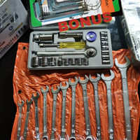 Kunci Sok Set + Ring Pas Set / Kunci Paket Murah Bonus Kunci L Set