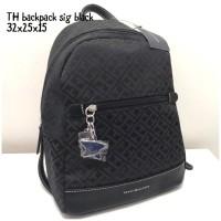 Tommy hilfiger backpack sig black tas asli original bag