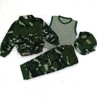 Baju Setelan Army Tentara Abri Loreng Anak Laki-Laki ( 4 bln - 4 th )