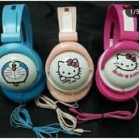 Headphone Bando Karakter Doraemon Kity