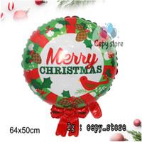 Balon Foil Merry Christmas / Balon Ring Christmas