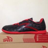 Ready Sepatu Futsal Specs Quark In Black Emperor Red 400720 Original