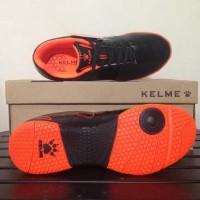 Ready Sepatu Futsal Anak Kelme Star 9 Junior Black Orange 1115244