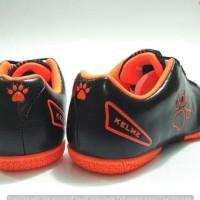 New Sepatu Futsal Anak - Kelme Star 9 Jr Black/Orange Original