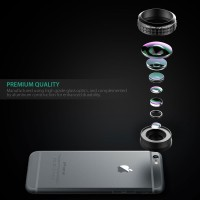 Aukey Optic Pro 238 Degree Wide Angle Lens for smartpho Limited