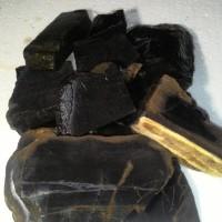 Grosir Termurah Bahan / Rough Black Opal Solid / Porselin ASLI Maja