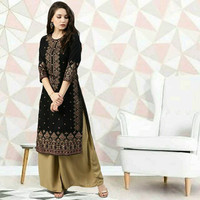 Kajal black cotton kurta baju atasan wanita india