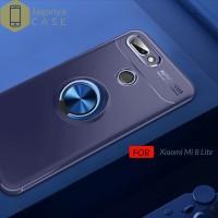 Case Xiaomi Mi 8 Lite Autofocus Invisible Iring Soft Case - Hitam
