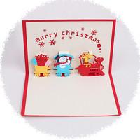 3D CARD KARTU UCAPAN MERRY CHRISTMAS selamat natal card
