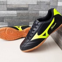 Sepatu Olahraga Futsal Mizuno Fortuna FG 18 Hitam List Hijau Import