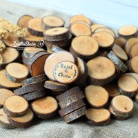 Potongan Kayu | Talenan Kayu | Slice Wood S Diameter 5 cm Tebal1,5 cm