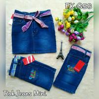 rok mini jeans anak rok jeans