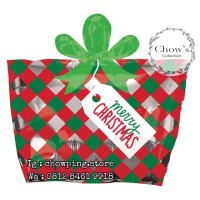 Balon Foil Merry Christmas Kado Natal Kotak / Christmas Box