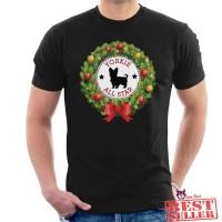 Yorkshire Terrier All Star Christmas Wreath Baju Kaos Semua Warna