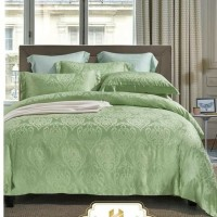 bed cover set king koil tencel motif ukir warna hijau uk king 180x200