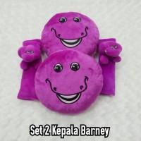 Bantal Mobil Set 2 Kepala Barney