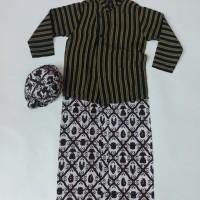 Baju Lurik Anak Laki-Laki/ Setelan Baju Lurik Adat Jawa Anak Laki-Laki
