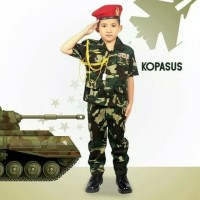 Baju profesi anak kopasus // baju baret merah // tentara TNI anak