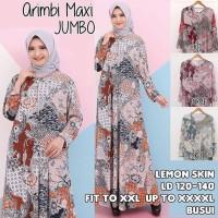 Arimbi Gamis Jumbo Batik Busui Jersey Maxi Dress Muslim Big Size Murah